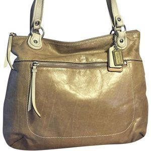 COACH Large Leather POPPY GLAM Tote 18998